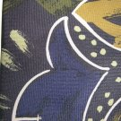 Giovanni Sciarpa navy dull gold and green necktie