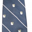 Van Heusen navy blue stripe and shield man's tie