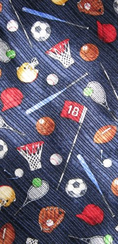 Van Heusen 100% Silk Sports Insignias boy's necktie