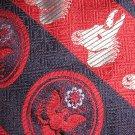 Kipper Burkhardt's necktie Democrat donkey pattern
