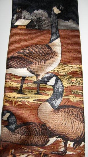 Wembley 100% Silk Wild Geese necktie