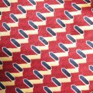 NEO Bill Blass 100% silk geometric pattern necktie