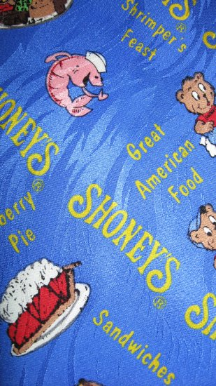 Shoney's Pantry Square 100% silk bright blue necktie