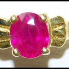 Diamond 18K Yellow Gold Jewelry Solitaire Ruby Ring [RS0196]