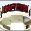 Diamond and For Men Ruby Ring Unique 18K White Gold [RQ0036]