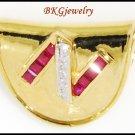 Design'N' Natural Ruby Diamond Pendant 18K Yellow Gold [P0086]