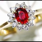 Diamond Solitaire Ruby Jewelry Ring 18K Yellow Gold [RS0001]