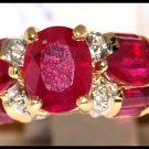 18K Yellow Gold Diamond and Ruby Wedding Ring [R0079]