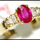 Diamond Eternity Ruby 18K Yellow Gold Solitaire Ring [RS0040]
