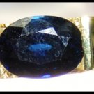 Oval Solitaire Blue Sapphire 18K Yellow Gold Diamond Ring [RS0074]