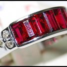 18K White Gold Jewelry Natural Ruby and Diamond Ring [RQ0031]