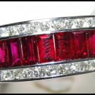 For Men Ruby Ring and Diamond Unique 18K White Gold [RQ0017]