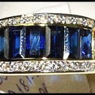 Diamond Eternity Blue Sapphire For Men 18K Yellow Gold Ring [RQ0006]