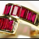 18K Yellow Gold Diamond and For Men Red Ruby Ring [RQ0001]