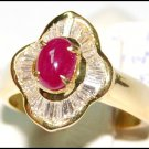 18K Yellow Gold Ruby Diamond Eternity Cocktail Ring [RB0016]