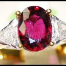 Diamond Ruby Eternity 18K Yellow Gold Solitaire Ring [RS0166]