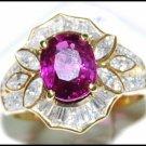 Wedding Oval Ruby Diamond 18K Yellow Gold Eternity Ring [RB0012]