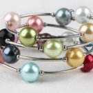 Wrap-around Colorful Beaded Bangle