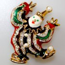 Clown Brooch