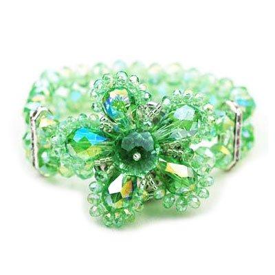 Elegant Green Flower Stretch Bracelet