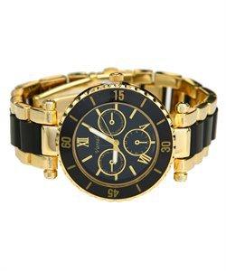 Men's Gold Black Metal Watch