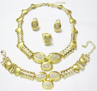 Gold African Jewelry Set