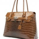 Tan Glazed Croco Bag