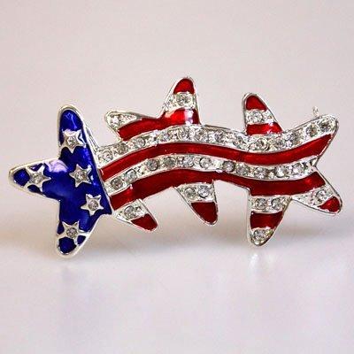 Patriotic Stars Brooch