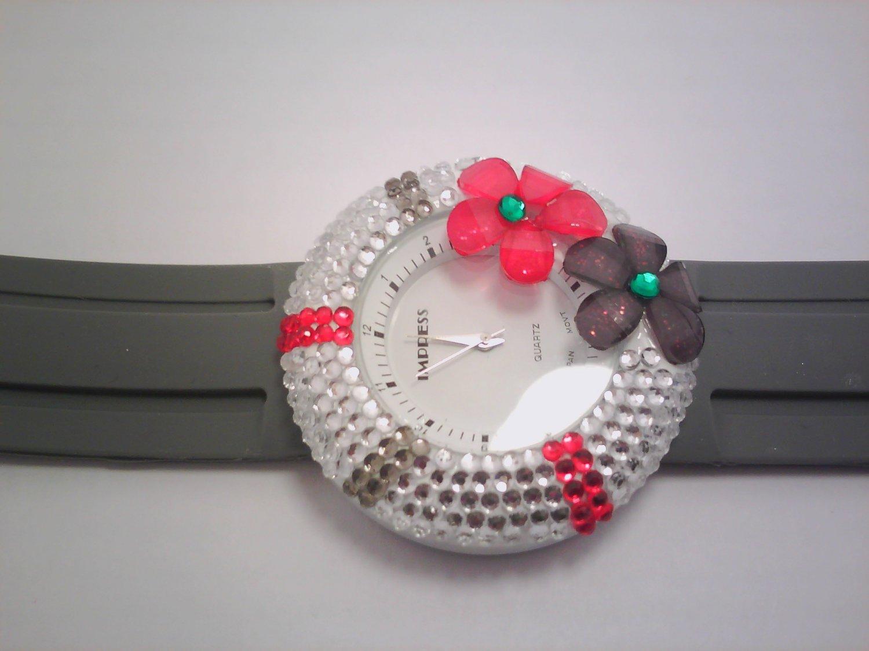 Gray Stone Lady Fashion Watch