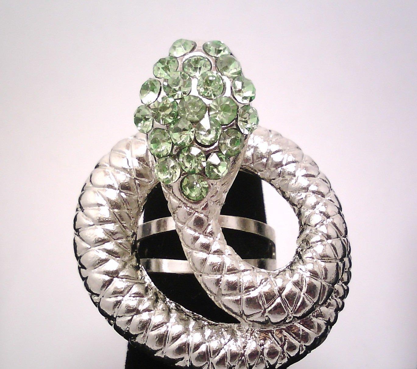 Lime Green Fashion Snake Ring