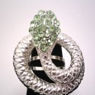 Lime Green Fashion Snake Ring