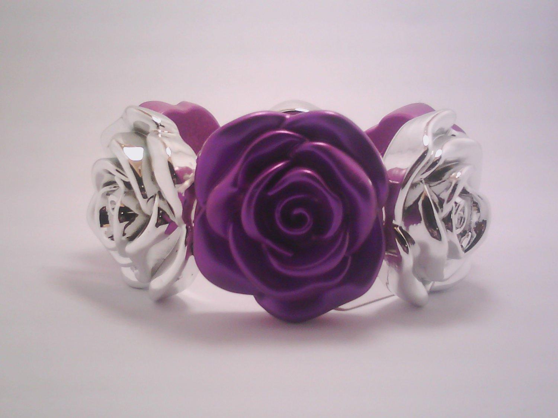 Purple Flower Stretch Bracelet