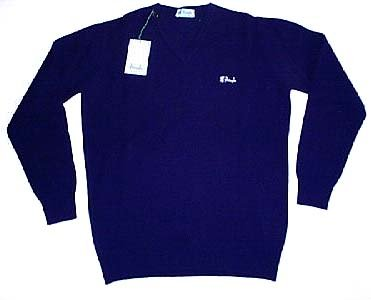 Pringle - Blue V-Neck Jumper