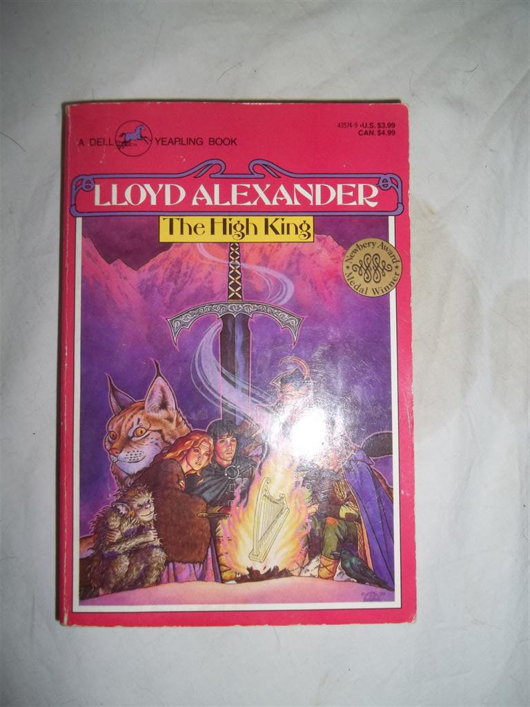 Chronicles of Prydain The High King by Lloyd Alexander Signed Book 5 April 1990