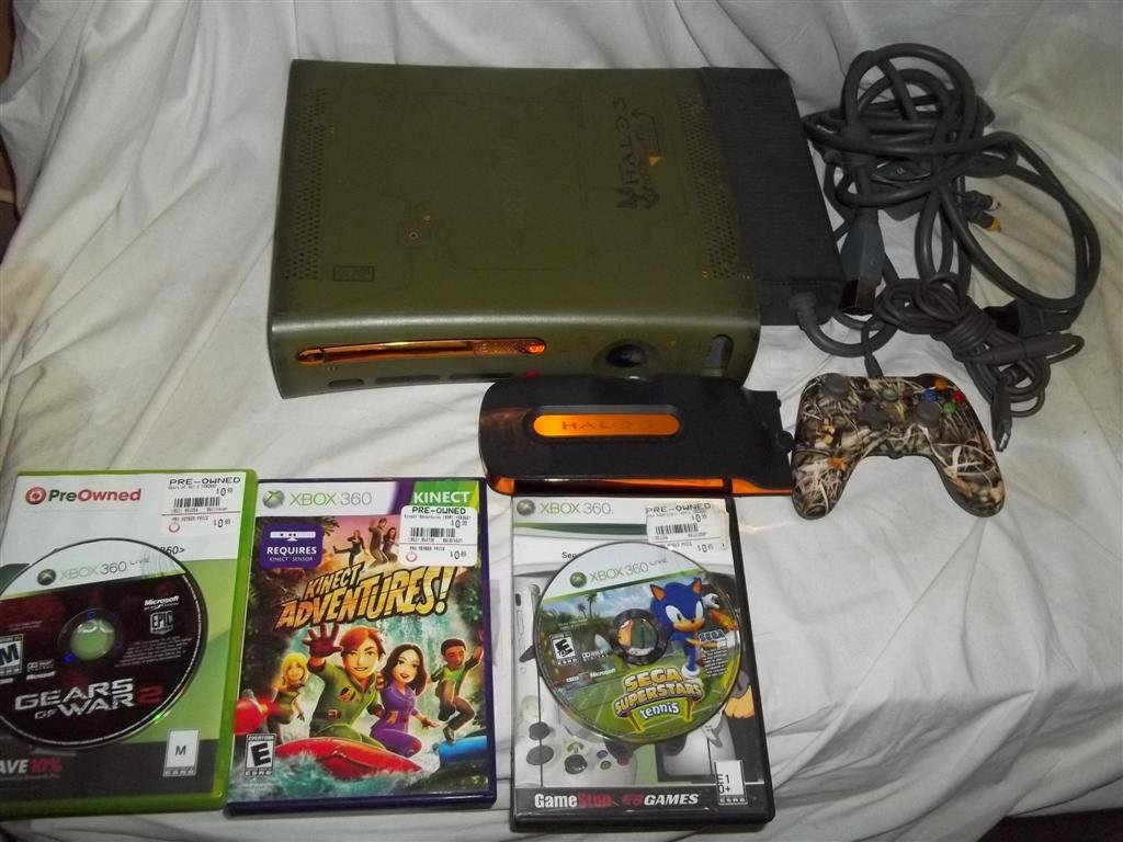Xbox 360 Halo 3 Limited Special Edition HDMI System Game LOT Gears of War 2