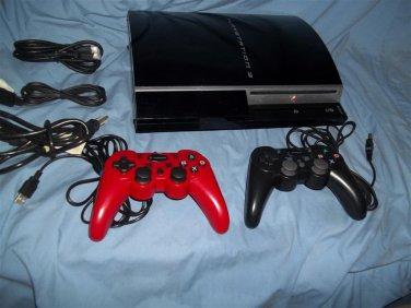 Sony Playstation 3 PS3 20 GB Console Black 4 usb Backward Compatible 20gb
