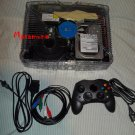3tb Modded Xbox Game System w/ Clear Ghost Case LED's Cables 1 controller 3 tb