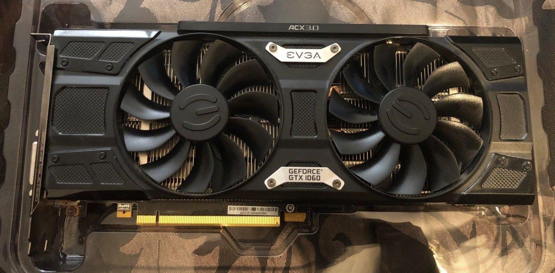 EVGA GeForce GTX 1060 SC GAMING Video Graphics Card PCI-e ACX 2.0 Dual Fan 6GB GDDR5 06G-P4-6163-KR