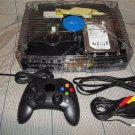 2tb Modded Xbox Game System w/ Clear Ghost Case LED's Cables 1 controller