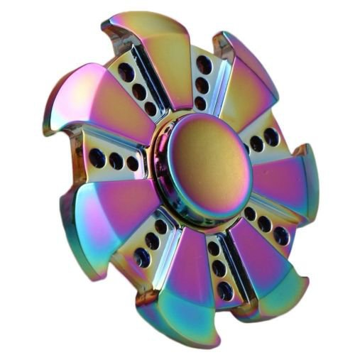 EDC Fidget Hand Spinner Multicolor Torqbar Focus ADHD Autism Finger Toy Gyro