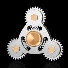 Hand Spinner Four Gear Teeth Fidget Spinner Linkage Metal EDC Torqbar Toy Adult