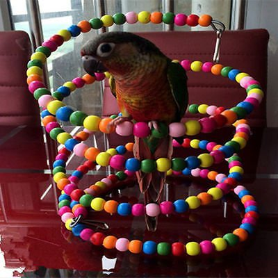 22INCH Wooden Ladder Climb Bird Swing Bridge Cockatiel Parakeet Parrot Pet Toys