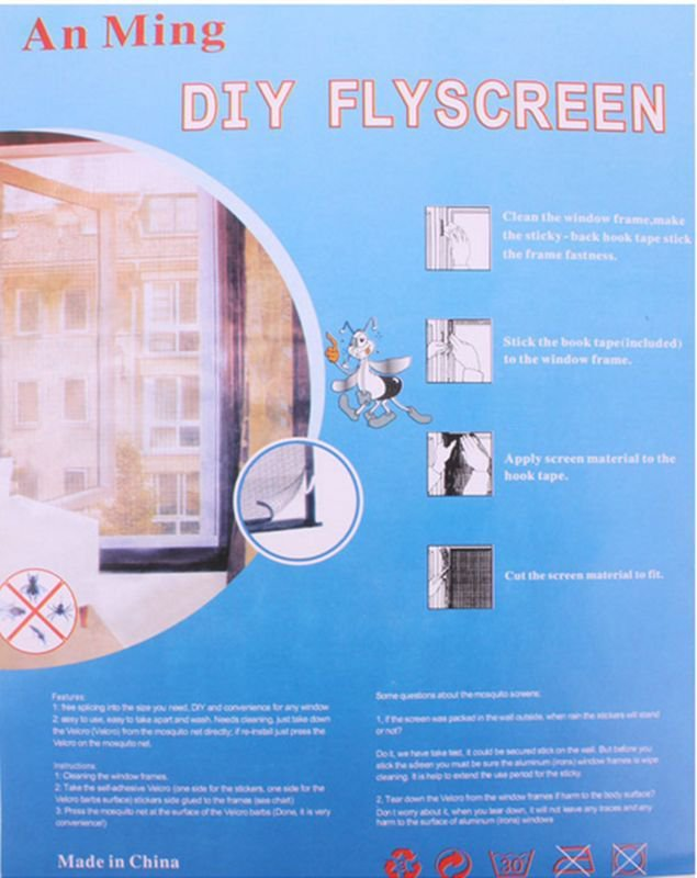 Easy Fast Anti Mosquito Insect Window Screening Protector Dense Net