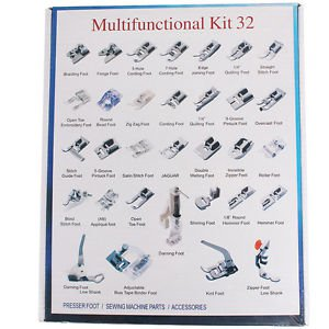Hot 32/42 Sewing Machine Presser Feet Tool Kit Set For Brother Singer Domestic