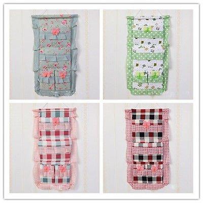Adorable Cute Useful Cotton Wall Hanging Storage Organizer Bag Pocket Hotsale