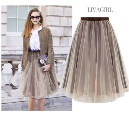 Street Style 6 Layers Women Girls Princess Ballet Tulle Tutu Skirt Wedding Dress