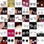 Fashion Women 925 Charming Silver Jewelry Angel Wings Crystal Ear Stud Earrings
