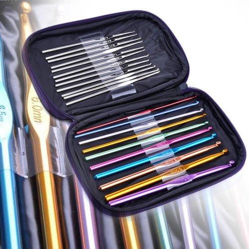 8PCS Set Soft Handle Needle Knitting Weave Craft Yarn Aluminum Crochet Hooks New