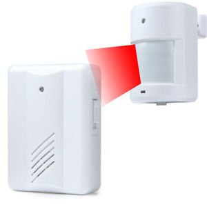 Wireless Infrared Alarm Monitor Sensor Detector Entry Doorbell Alarm Transmitter
