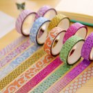 10x Differ Style Transparent Lace Tape DIY Diary Decorative Stickers Stationery